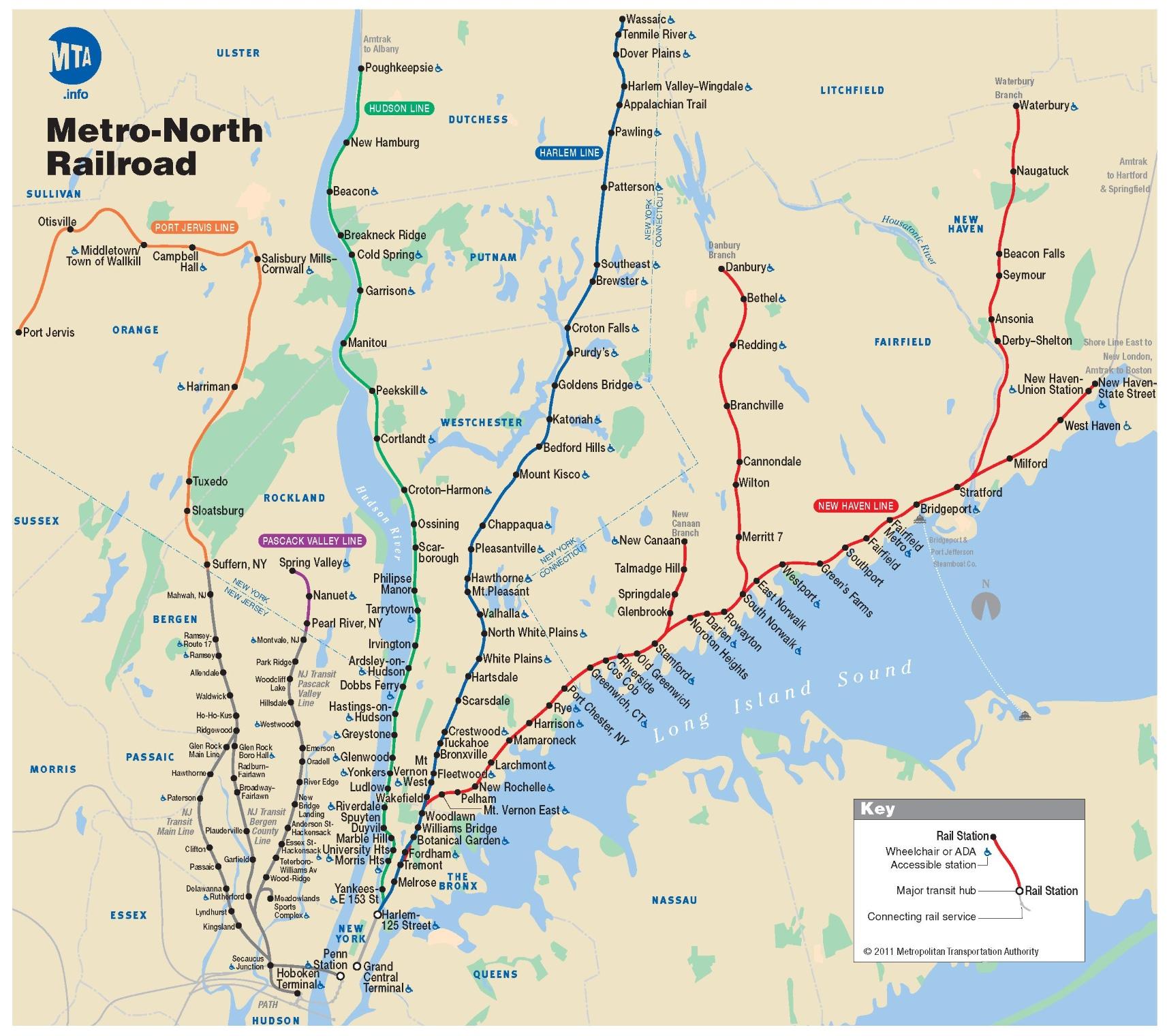 new york metro north railroad mnr map