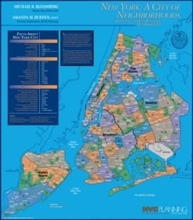 New York City neighborhoods map