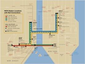 New York PATH map