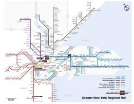 New York City rail map
