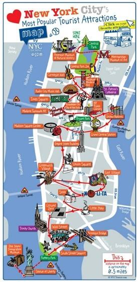 New York City sightseeing map