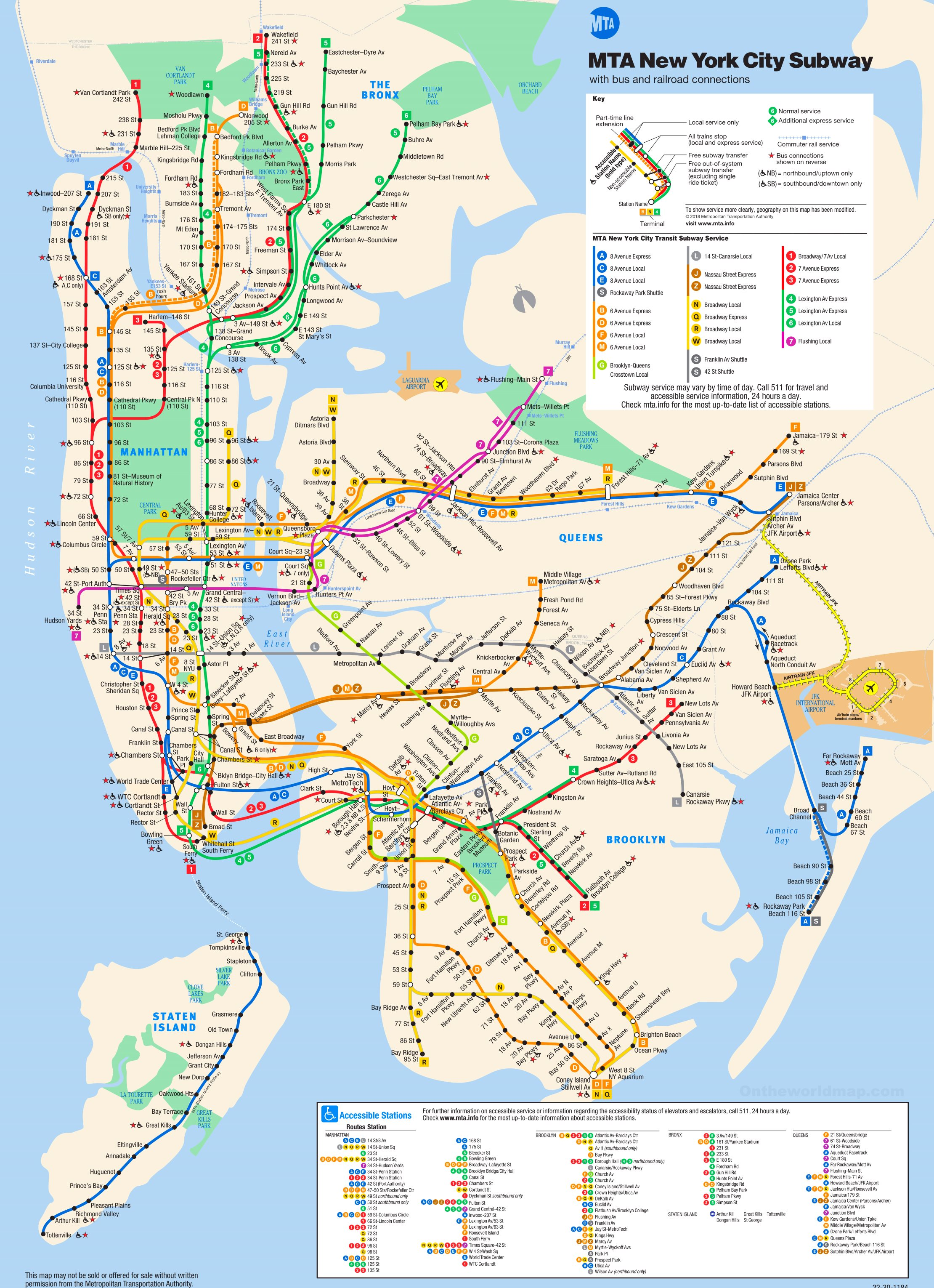 Large Ny Subway Map.New York Subway Map