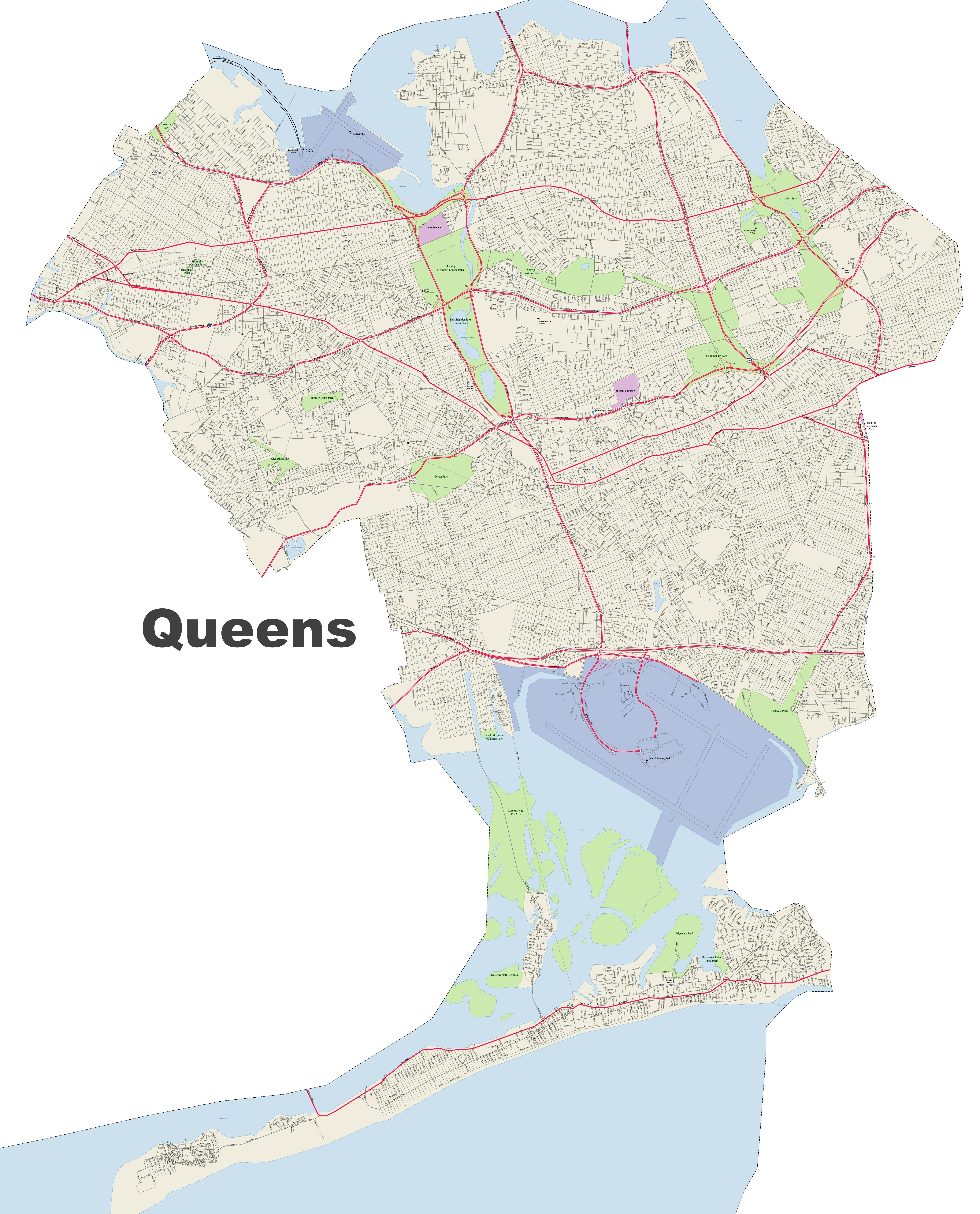 Queens street map