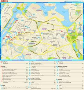 Queens Tourist Map