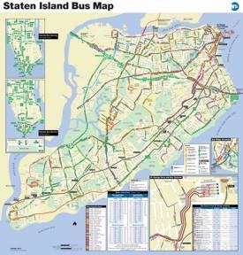 Staten Island bus map
