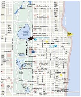 Upper East Side map