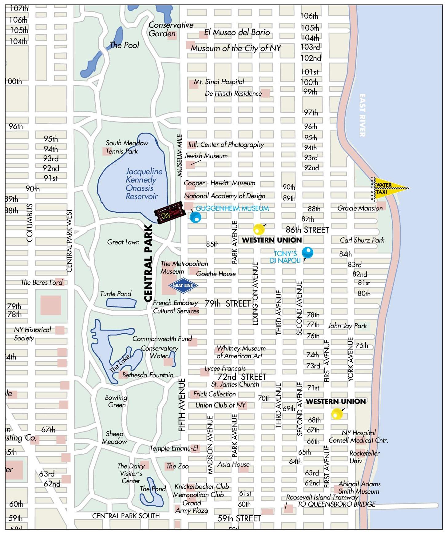 Upper East Side Map Upper East Side map Upper East Side Map