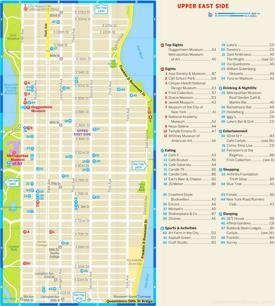 Upper East Side Tourist Map