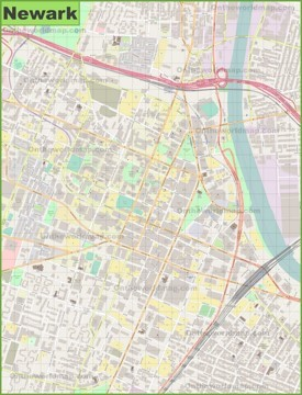 Newark downtown map