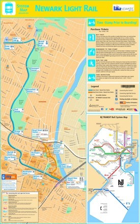 Newark Light Rail map