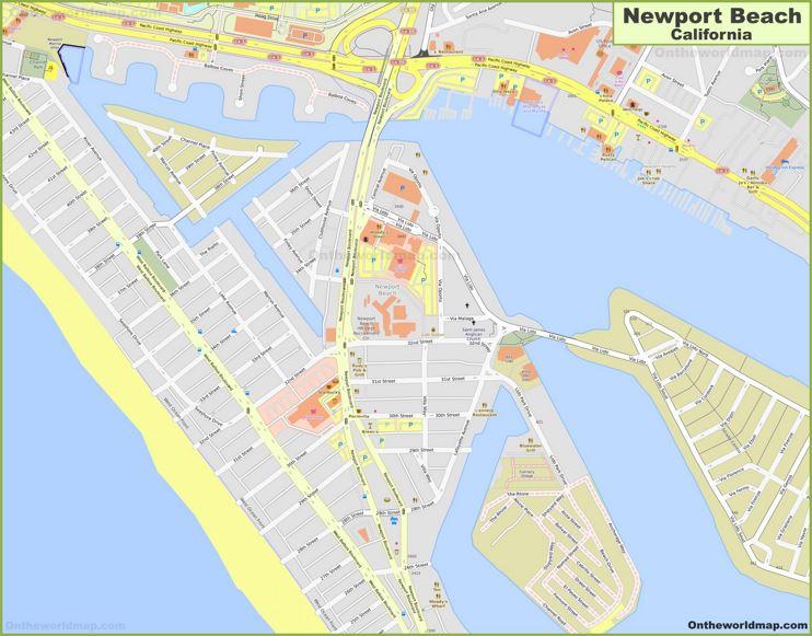 Newport Beach City Center Map