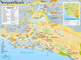 Newport Beach Sightseeing Map