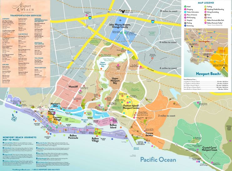 Newport Beach Tourist Map