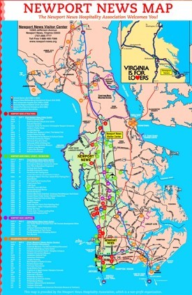 Newport News tourist attractions map
