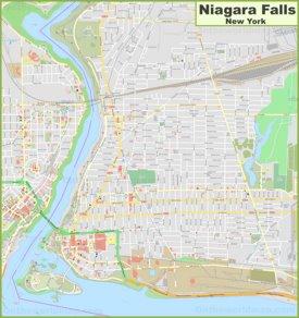 Large detailed map of Niagara Falls