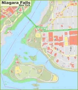 Niagara Falls downtown map