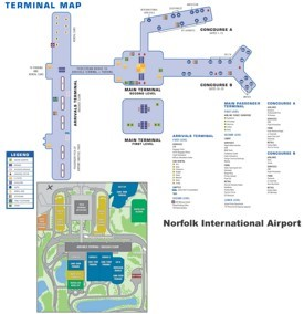 Norfolk airport map