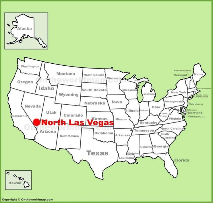 North Las Vegas location on the U.S. Map