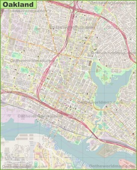 Large detailed map of Oakland