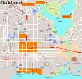 Oakland downtown map