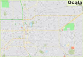 Large detailed map of Ocala