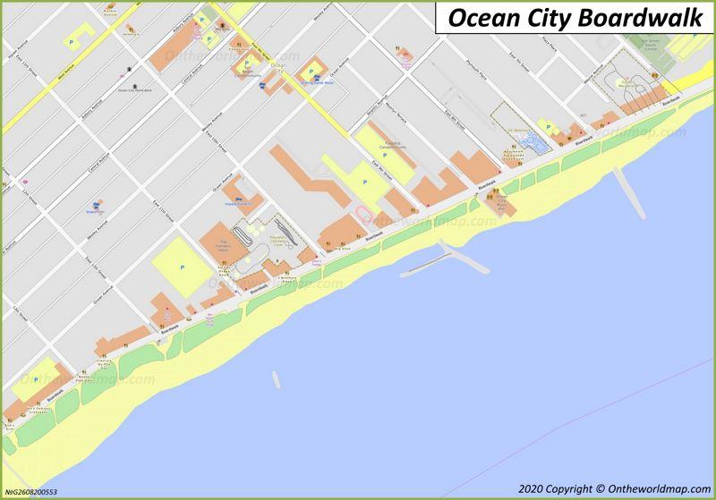 Ocean City Boardwalk Map