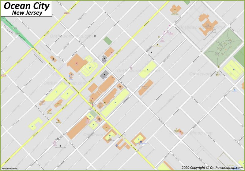 Ocean City Downtown Map