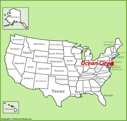 Ocean City Location Map