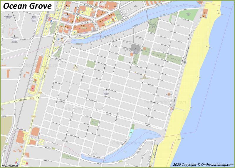 Map of Ocean Grove