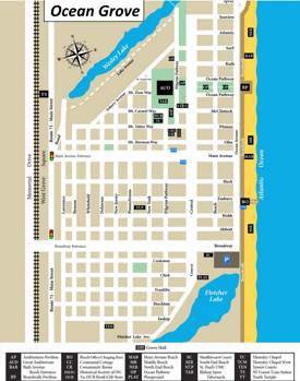 Ocean Grove Tourist Attractions Map