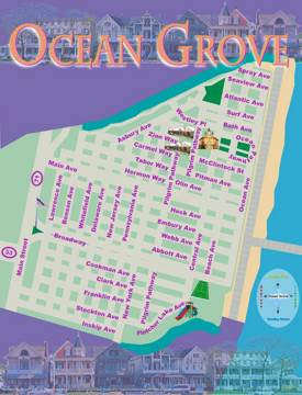 Ocean Grove Tourist Map
