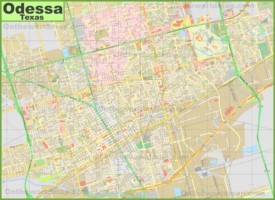 Large detailed map of Odessa