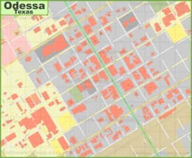 Odessa downtown map