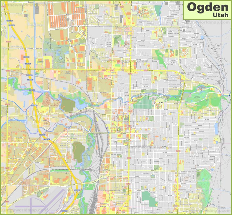 Large detailed map of Ogden