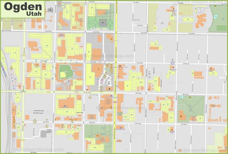 Ogden downtown map