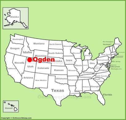 Ogden Location Map