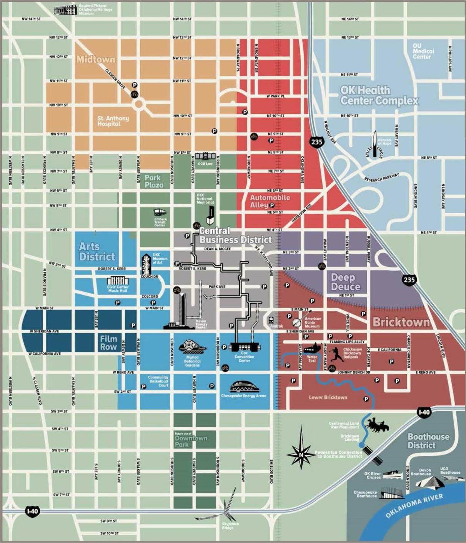 Oklahoma City downtown map