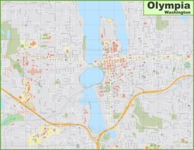 Large detailed map of Olympia
