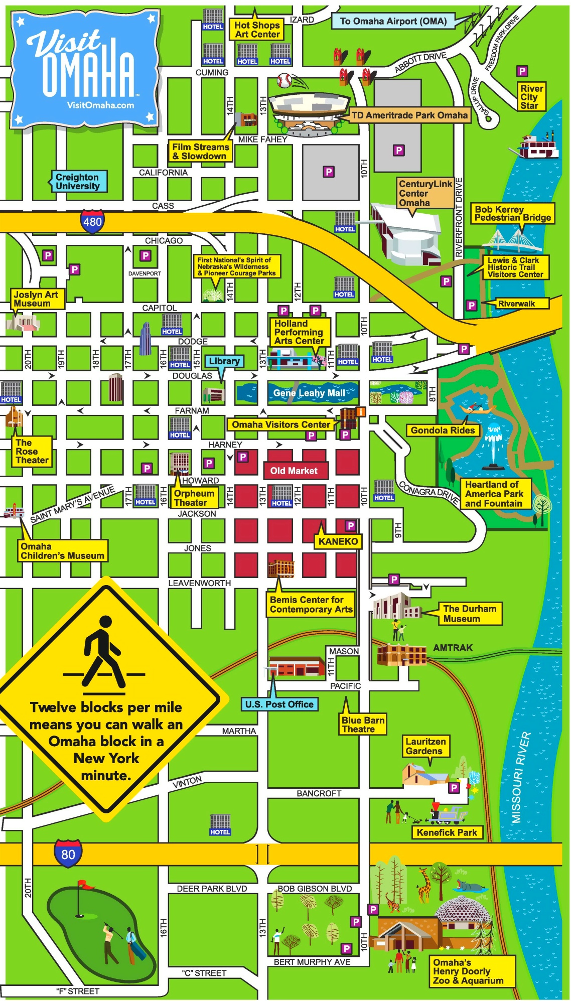 Omaha Downtown Map