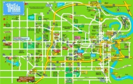 Omaha hotels and sightseeings map