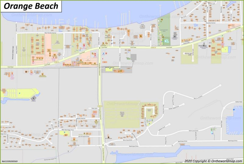 Orange Beach Downtown Map