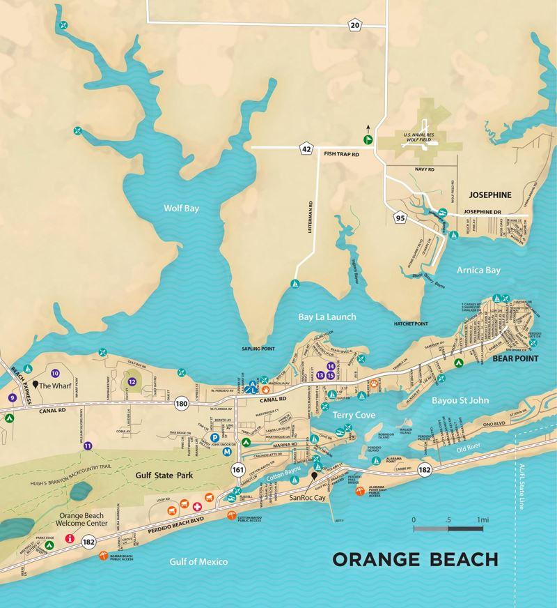 Orange Beach Tourist Map
