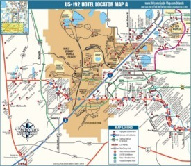 Kissimmee hotel map