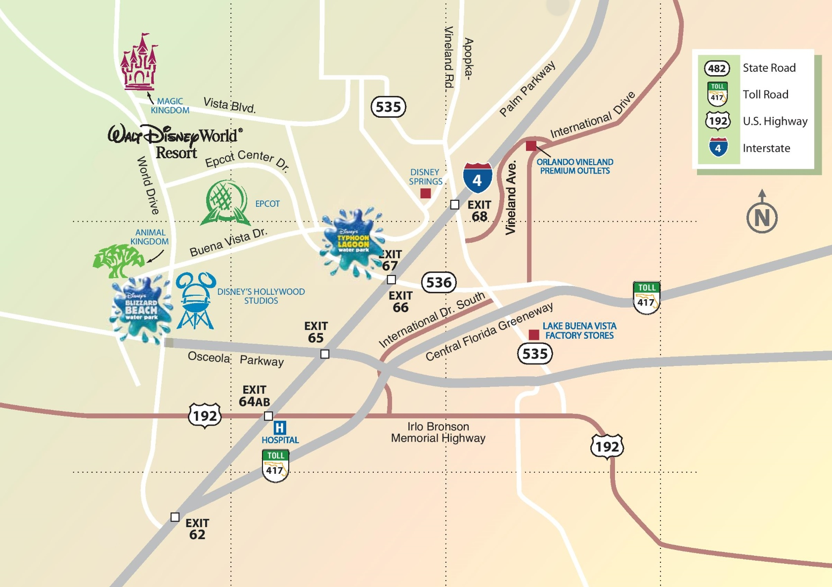 map of lake buena vista area Lake Buena Vista Area Map map of lake buena vista area