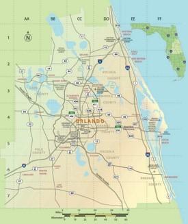 Orlando area map