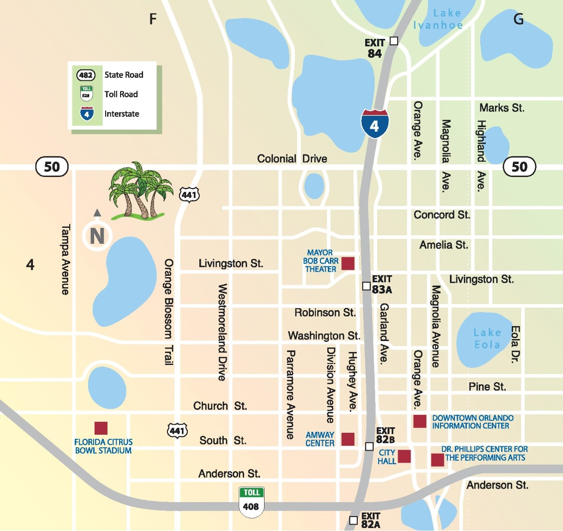 Orlando downtown map