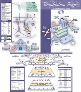 Orlando International Airport map