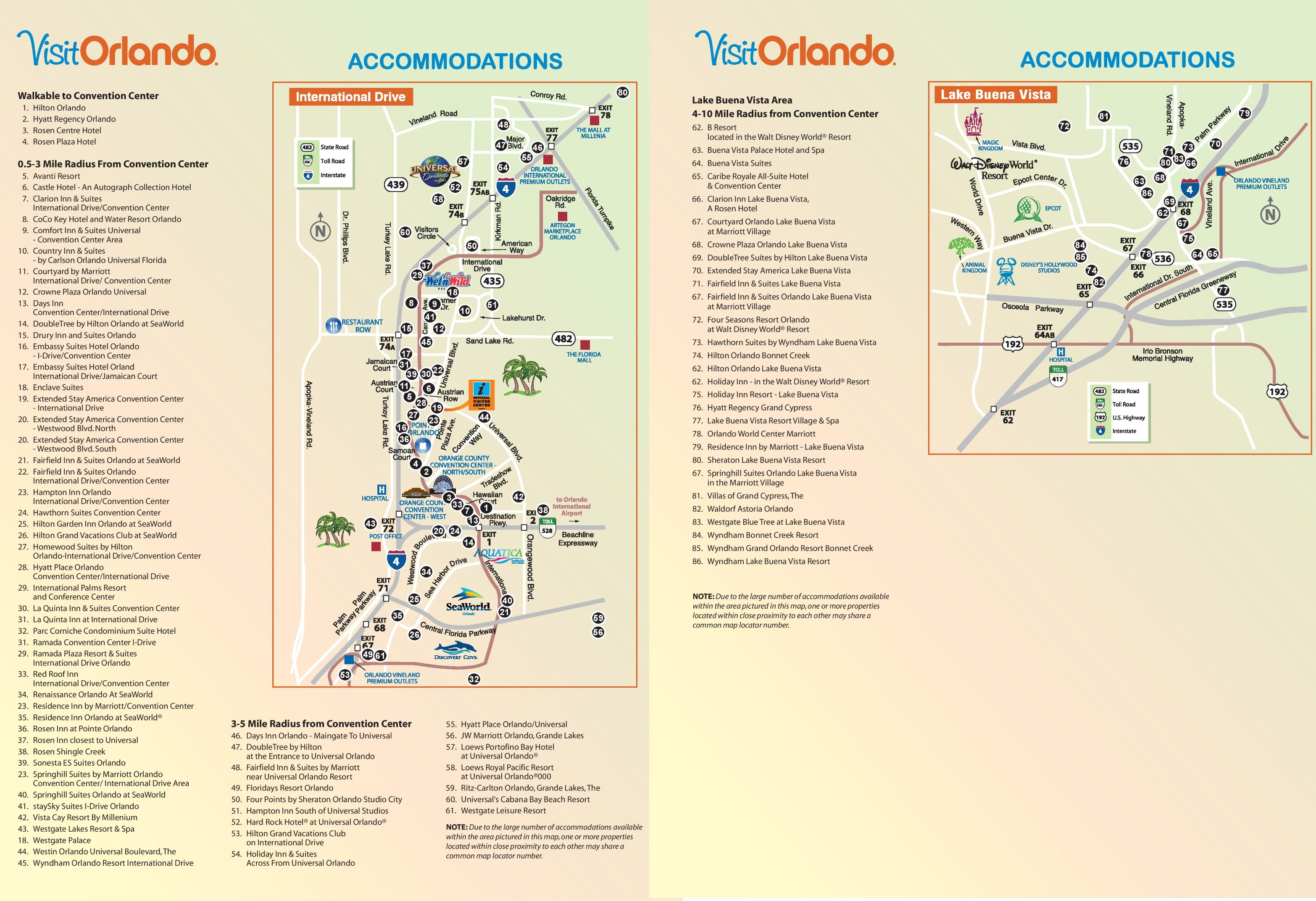 florida map of hotels