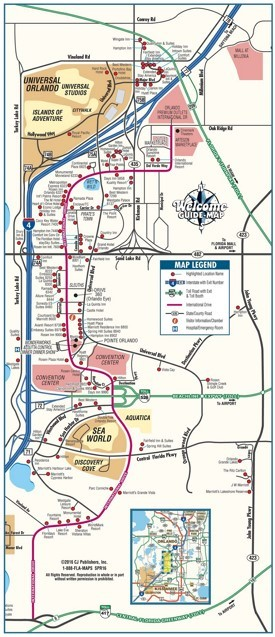 Orlando International Drive tourist map