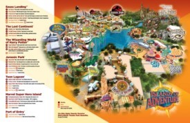 Orlando Islands of Adventure map